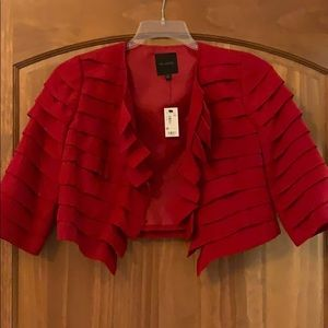 Red cut off jacket